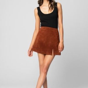 Blank NYC Dried Tobacco Mini Skirt